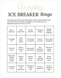 Bridal Shower Ice Breaker Game Pastel Rainbow Wedding Human Bingo Cards Printable Get to Know You Blush Bridal Showers, Bridal Shower Games, Bingo Cards, Printable Cards, Wedding Printable, Ice Breaker Bingo, Human Bingo, Wedding Party Games, Wedding Ideas