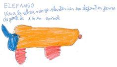 ELEFANGO: Vive en la selva y es un elefante con forma de gorila. Jordi.
