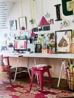 Selina Lake: Homespun Style Now in Dutch, Thuis je eigen Stijl Workspace Inspiration, Decoration Inspiration, Room Inspiration, Home Office Space, Home Office Decor, Home Decor, Office Spaces, Space Crafts, Nooks