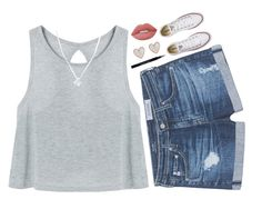 """""""why can't I go to school with you guys"""" by pineapple5415 ❤ liked on Polyvore featuring AG Adriano Goldschmied, Converse, Lime Crime, Wolf & Moon, New Look and Givenchy"""