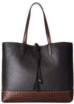 Black Leather Tote Bag, Leather Shoulder Bag, Tote Handbags, Leather Handbags, Best Tote Bags, Denim Tote Bags, Beaded Bags, Leather Accessories, Cole Haan