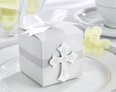 Baptism Cross Party Favor Box (set Of 24)   All About Gifts & Baskets