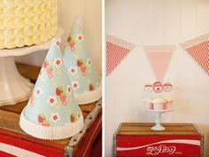 Kara's Party Ideas Vintage Strawberry Shortcake Girl Summer Party Planning Ideas