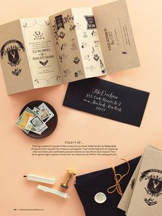 antler art wedding invitation design by Paisley Quill. Calligraphy by Molly Jacques via @MarthaWeddings.
