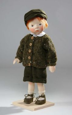 """Boy in Green Sweater by Elisabeth Pongratz.  [He reminds me of """"Geordie"""" from the Disney movie """"Thomasina""""]"""