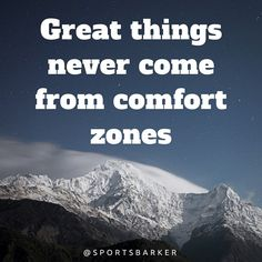 """Great things never come from comfort zones. #sportsbarker  #quotesoftheday  #motivationalquotes  #inspirationalquote ✔️"" Photo taken by @sportsbarker on Instagram, pinned via the InstaPin iOS App! http://www.instapinapp.com (09/19/2015)"
