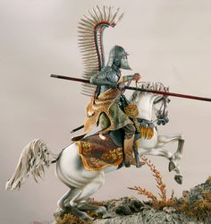 Historic pewter miniatures.    POLISH HUSSAR