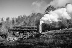 The red-orange flare means East Fork Pottery is in the midst of a firing, a seven day cycle of heat, smoke, and gradual cooling that produce. Wood Kiln, Shed Roof, Ansel Adams, Matisse, New Mexico, Cycling, Community, Black And White, Fotografia