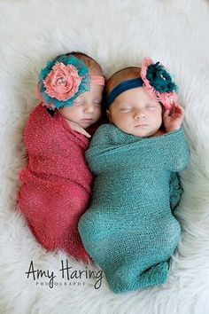 Light Coral & Teal Lace Headbands- newborn, twins, baby girl, toddler, birthday, cake smash, photo prop