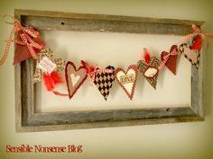 My Vintage Window: Valentine Frame: Something Pretty