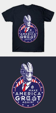 Make America Groot Again T Shirt | Donald Trump parody tee | Visit http://shirtminion.com/2016/05/make-america-groot-again-t-shirt/