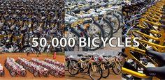 50000 bicycles milestone celebration