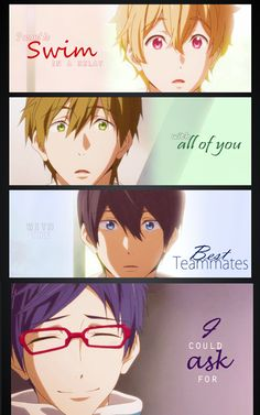 Free! Iwatobi Swim Club ~ I absolutely fell in love with Rei all over again when he said this <3