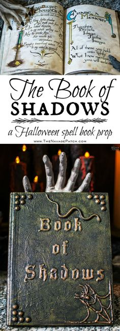 The Book of Shadows : A DIY. Looking for a unique Halloween prop? Learn how to make a realistic spell book, aka The Book of Shadows, with my tutorial. Halloween Prop, Casa Halloween, Halloween Spells, Halloween School Treats, Fairy Halloween Costumes, Cute Halloween Costumes, Couple Halloween, Holidays Halloween, Halloween Crafts
