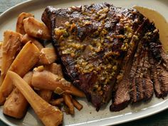 Brisket with Parsnips, Leeks & Green Onions   TFN (can use other root vegetables in place of  or in addition to parsnips)
