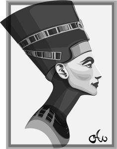 Nefertiti by on DeviantArt Nefertiti Tattoo, Nefertiti Bust, Island Tattoo, Queen Drawing, Ancient Egypt Art, Vector Portrait, Time Tattoos, Egyptian Art, Art Images
