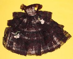 """RARE VINTAGE 1960'S """"LADY OF SPAIN"""" GOWN BY HALINA'S DOLL FASHIONS OF CHICAGO"""