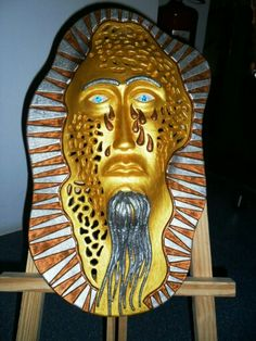 Máscara luminária - Cerâmica Artes Rei