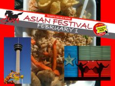 TICKETS NOW AVAILABLE! For Asian Festival on Sat. Feb. 1. At the ITC in San Antonio.  Visit http://www.texancultures.com/ and click on the matching banner for more details.