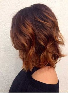 copper auburn hair color, copper hair color for auburn ombre brown amber balayage and blonde hairstyles Pelo Popular, Hair Color Auburn, Short Auburn Hair, Auburn Ombre, Hair Color And Cut, Red Hair Colour 2018, Long Bob Hairstyles, Blonde Hairstyles, Hairstyles 2018