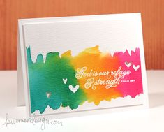 Watercoloring with Re-inkers – Make a Card Monday #246