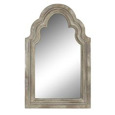 """I want a row of these on a dining room wall!! LOVE them!! From Lowe's Style Selections 15"""" x 24"""" Off-White Arch Framed Mirror"""