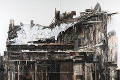 The online art portfolio of pittsburgh collage artist and sculptor Seth Clark. Pittsburgh, Dark Artwork, Wood Architecture, Architecture Sketches, Create Collage, Beautiful Collage, A Level Art, Collage Artists, Art Portfolio