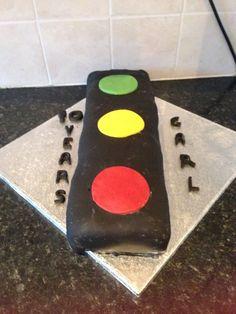 Traffic light Anniversary Cake