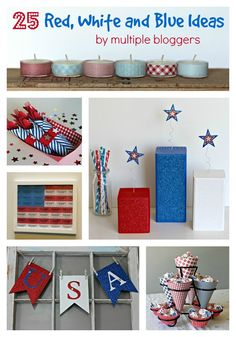 25 Red White and Blue Ideas - Organize and Decorate Everything