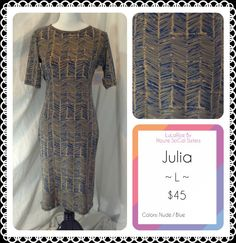 The Julia dress by LuLaRoe! So flattering and I love the pattern! Follow LuLaRoe By Haute SoCal Sisters on Facebook!