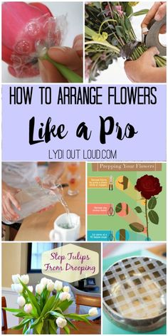 How to arrange flowers like a pro! Such great tips!