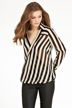 Stripe Wrap Shirt