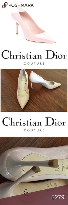 """Brand New Christian Dior Rose """"Cherie"""" Heels 7.5 Brand New never worn! Gorgeous! Christian Dior Patent Leather Light Pink / Rose """"Cherie"""" Pumps. 3 1/4"""" heel. Size 37.5 Euro. Originally bought for a client, I'm currently cleaning out my client closets. Open to offers, especially on bundles. I give 15% off bundles of 3 or more.You pay the same for shipping if you buy one or many items. I give a free gift with every purchase! Your purchase goes towards the non-profit organization I'm founding…"""