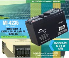 #Baterías DataShield 12V-100Ah $5,990 para #sistemassolares de #cicloprofundo, Selladas libres de mantenimiento con vida útil de 4 a 10 años, fácilmente recargables. Para inversores solares. Accesorio disponible en datashield.net/tiendaoficial.html
