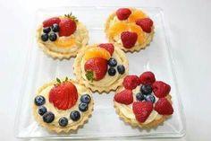 Tartas de frutos rojos y mandarina