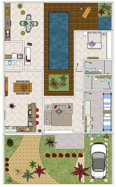 Projeto plantas de casas modernas