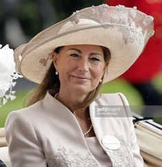 gorgeous Jane Corbett hat upon Carole Middleton at Ascot 2011.