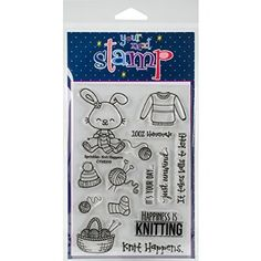 """Your Next Stamp Clear Stamps 4""""X6""""-Sprinkles - Knit Happens"""