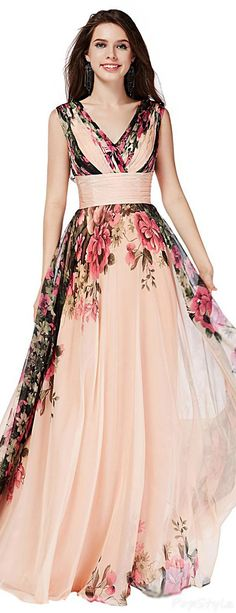 Sunvary 2015 summer chiffon long flowing dress - How To Fashion Stunning Dresses, Beautiful Gowns, Elegant Dresses, Pretty Dresses, Beautiful Outfits, Formal Dresses, Evening Dresses, Summer Dresses, Designer Gowns