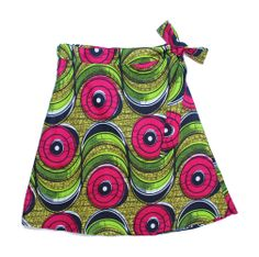 Add this beautiful fuchsia and yellow circles print skirt to your wardrobe! Find more here: http://www.dsenyo.com/products/wrap-skirt