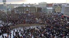 Demonstration in Reykjavik 2010