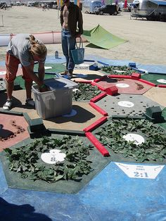 Outdoor Settlers of Catan board - this would be an outdoor activity I would enjoy!