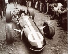 V12 are the center of attention at the 1967 USGP at Watkins Glen ...