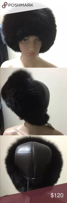 Real Fox fur women winter hat Brand new women real fox fur. Brown color Accessories Hats