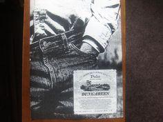 Ralph Lauren Polo Dungarees Vintage Magazine Advertisement