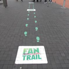 footstep vinyl to pavement - Google Search