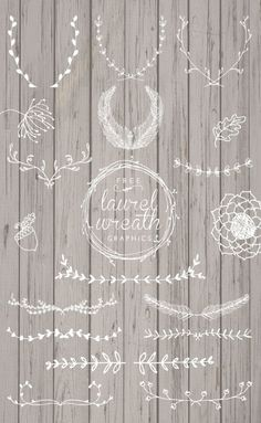 Free Laurel Wreath Graphics. Beautiful hand-drawn elements for your designs. by sasa.kovach