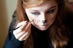 1.Halloween Costume for Work: Simple Kitty Cat Makeup