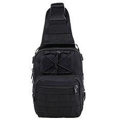 HUKOER Sling Shoulder Bag Oxford Fabric Crossbody Bag Shoulder Backpack Mens Multipurpose Daypack for Camping HikingTrekking RoverCycling HikingTravel Black >>> Continue to the product at the image link.Note:It is affiliate link to Amazon.