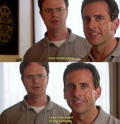 Inside jokes.